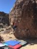 LeiLei smashing Serengeti boulder